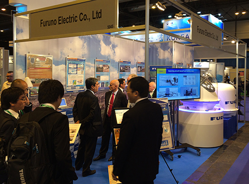 FURUNO booth during a previous exhibition
