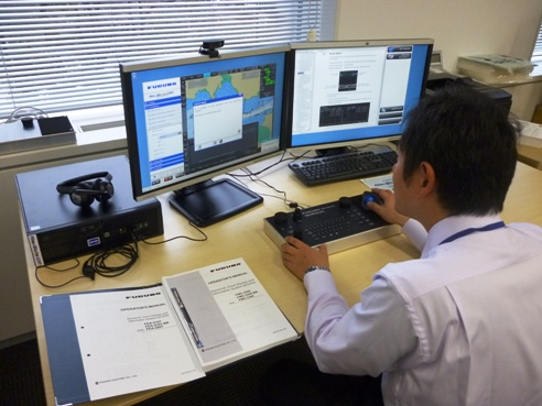 ECDIS training session conducted at JMS using NavSkills CAT workstation