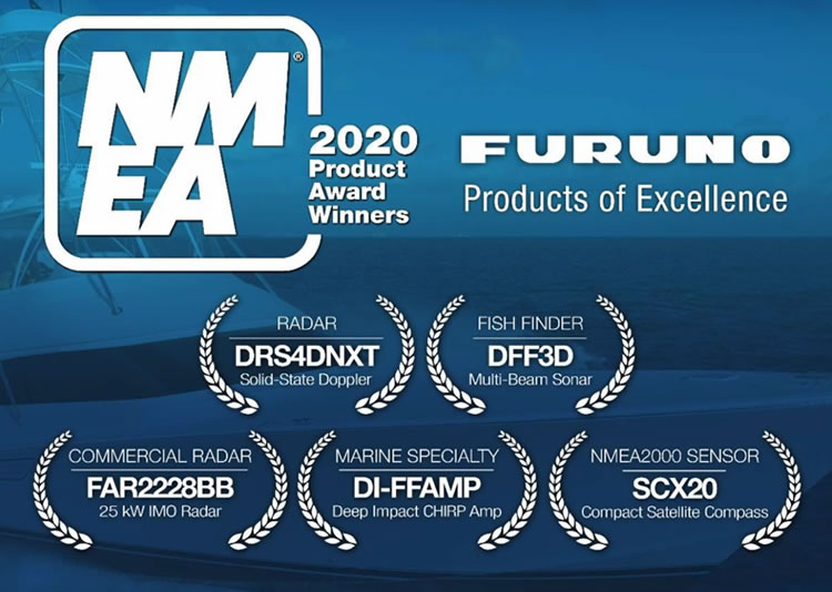 Furuno Dominates 2020 NMEA Product Of Excellence Awards