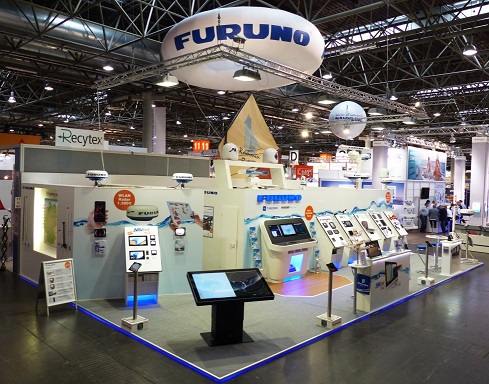 FURUNO booth at Dusseldorf Boat Show in past