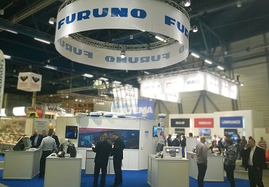 FURUNO booth at Helsinki International Boat Show in the past year